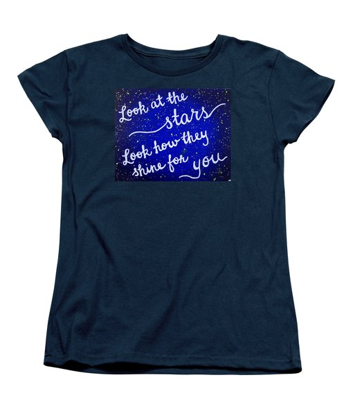 8x10 Look At The Stars Women's T-Shirt (Standard Cut) by Michelle Eshleman