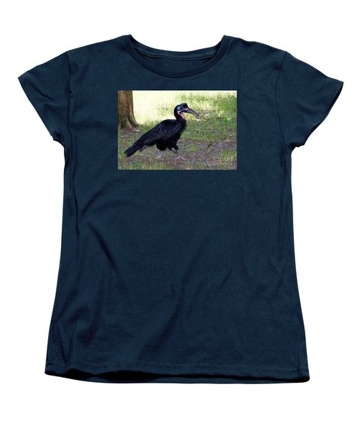 Abyssinian Ground-hornbill Women's T-Shirt (Standard Cut) by Gregory G. Dimijian