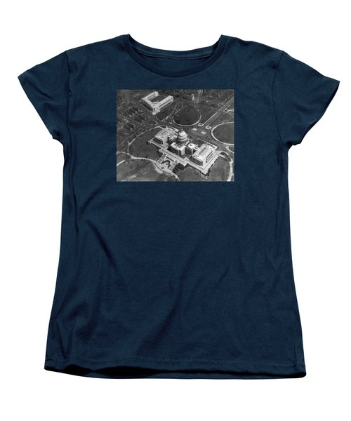 Aerial View Of U.s. Capitol Women's T-Shirt (Standard Cut) by Underwood Archives