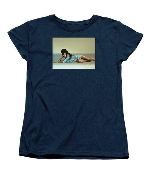 Amy Winehouse 2 Women's T-Shirt (Standard Cut) by Paul Meijering