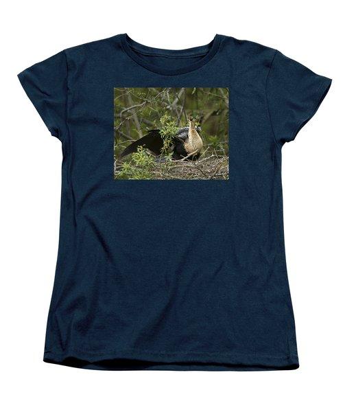 Anhinga Mama Women's T-Shirt (Standard Cut) by Phill Doherty