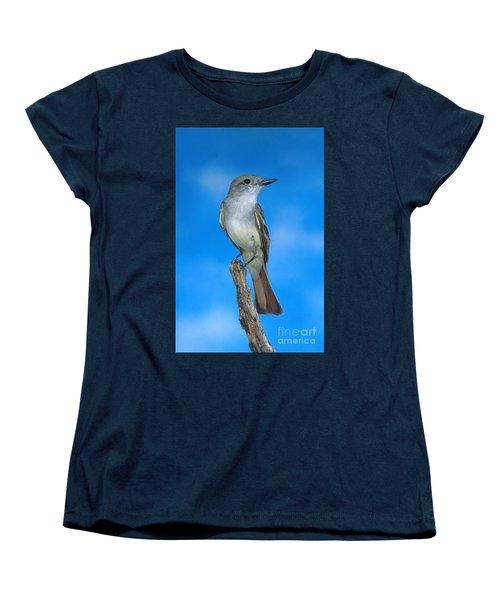 Ash-throated Flycatcher Women's T-Shirt (Standard Cut) by Anthony Mercieca