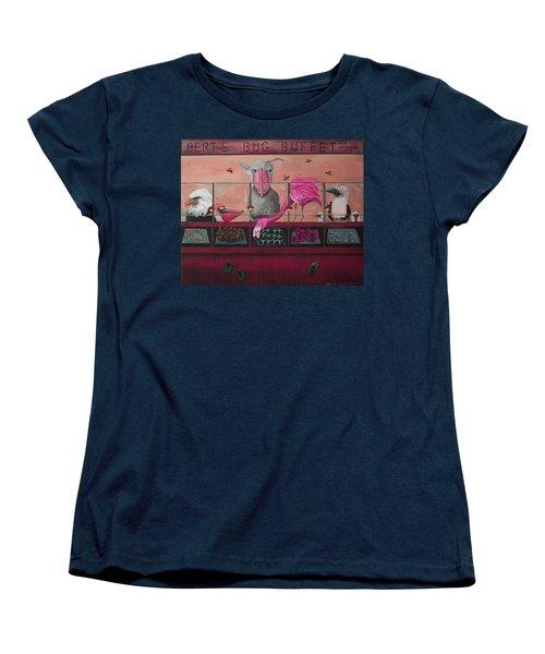 Bert's Bug Buffet Edit 2 Women's T-Shirt (Standard Cut) by Leah Saulnier The Painting Maniac