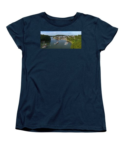 Boats In The Sea, Le Bono, Gulf Of Women's T-Shirt (Standard Cut) by Panoramic Images