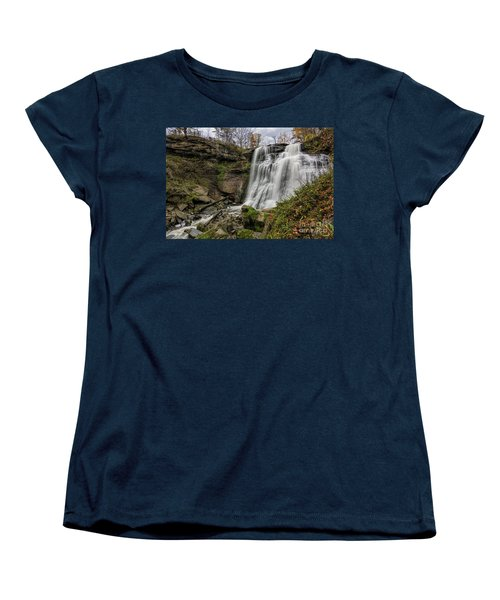 Brandywine Falls Women's T-Shirt (Standard Cut) by James Dean