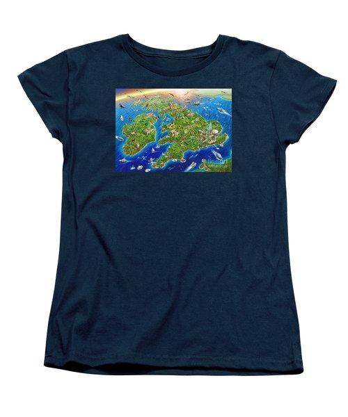 British Isles Women's T-Shirt (Standard Cut) by Adrian Chesterman
