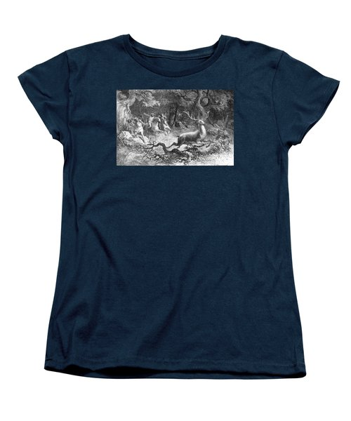 Women's T-Shirt (Standard Cut) featuring the photograph Bronze Age, Hunting Scene by British Library