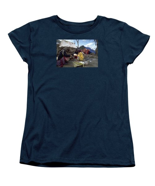 Women's T-Shirt (Standard Cut) featuring the photograph Camping In Iraq by Travel Pics