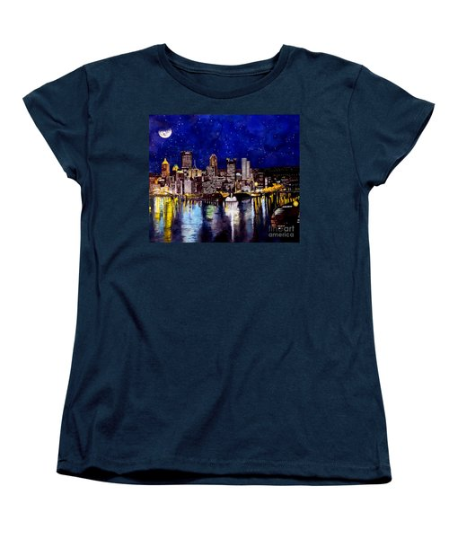 City Of Pittsburgh At The Point Women's T-Shirt (Standard Cut) by Christopher Shellhammer
