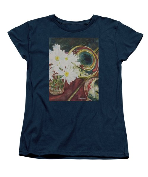 Daisies Bold As Brass Women's T-Shirt (Standard Cut) by Jenny Armitage