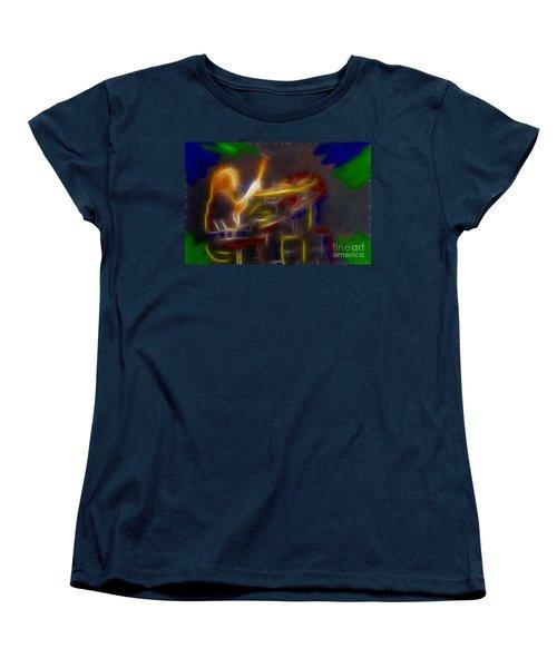 Def Leppard-adrenalize-gf24-ricka-fractal Women's T-Shirt (Standard Cut) by Gary Gingrich Galleries