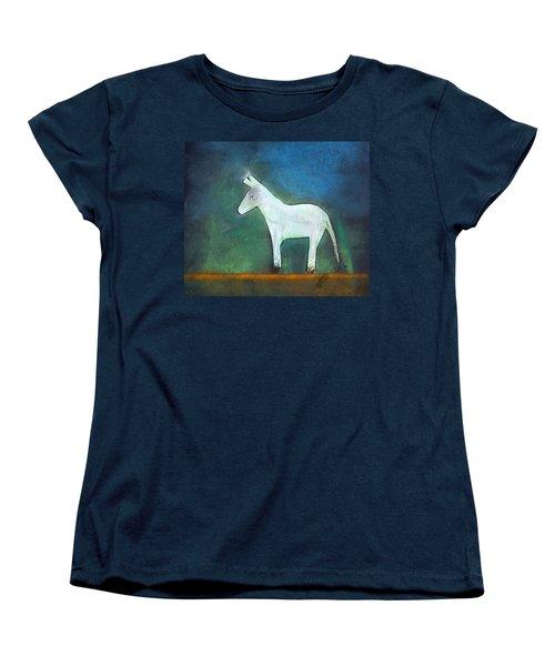 Donkey, 2011 Oil On Canvas Women's T-Shirt (Standard Cut) by Roya Salari