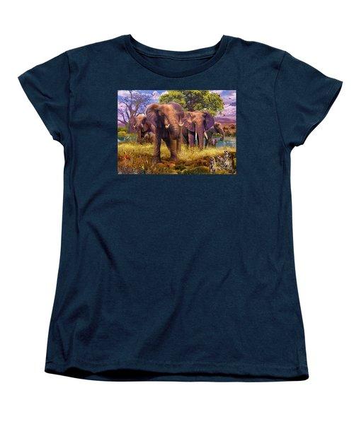 Elephants Women's T-Shirt (Standard Cut) by Jan Patrik Krasny