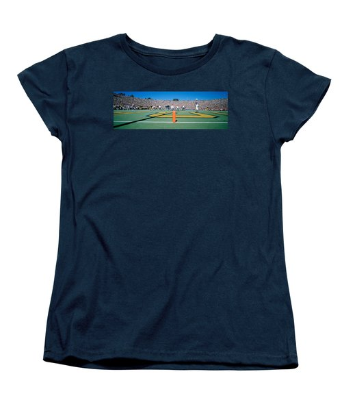 Football Game, University Of Michigan Women's T-Shirt (Standard Cut) by Panoramic Images