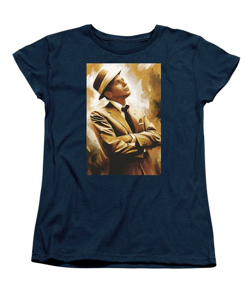Frank Sinatra Artwork 1 Women's T-Shirt (Standard Cut) by Sheraz A