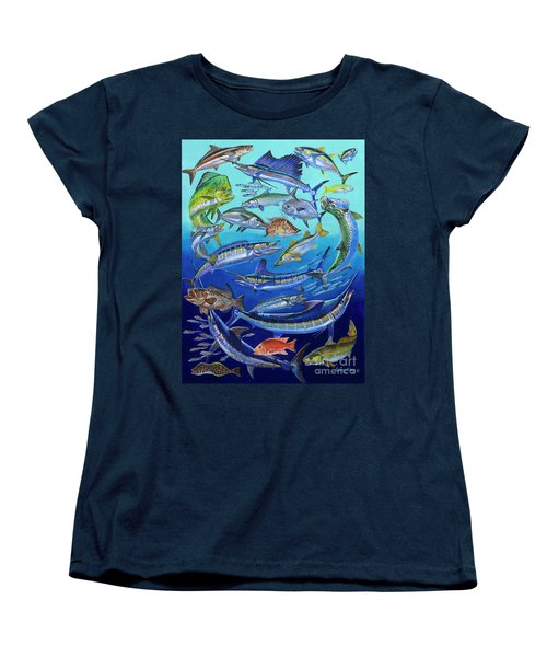 Gamefish Collage In0031 Women's T-Shirt (Standard Cut) by Carey Chen