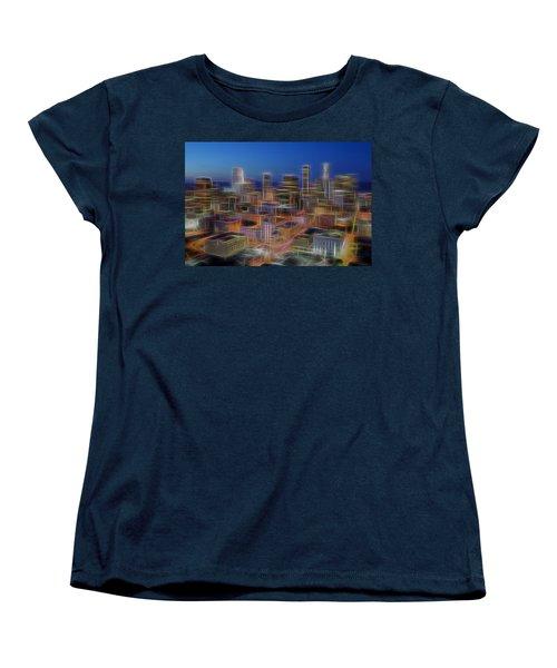 Glowing City Women's T-Shirt (Standard Cut) by Kelley King