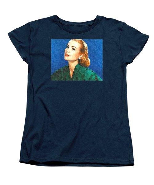 Grace Kelly Painting Women's T-Shirt (Standard Cut) by Gianfranco Weiss