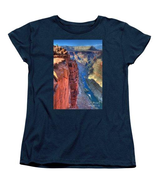 Grand Canyon Awe Inspiring Women's T-Shirt (Standard Cut) by Bob Christopher