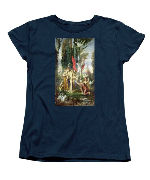Hesiod And The Muses Women's T-Shirt (Standard Cut) by Gustave Moreau