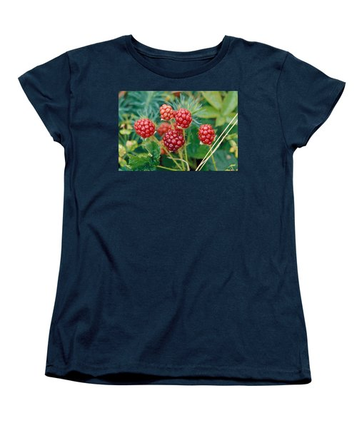 Highbush Blackberry Rubus Allegheniensis Grows Wild In Old Fields And At Roadsides Women's T-Shirt (Standard Cut) by Anonymous