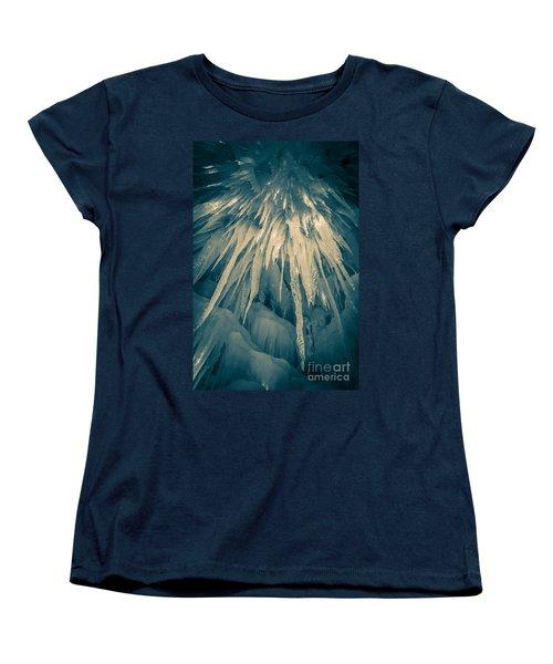 Ice Cave Women's T-Shirt (Standard Cut) by Edward Fielding