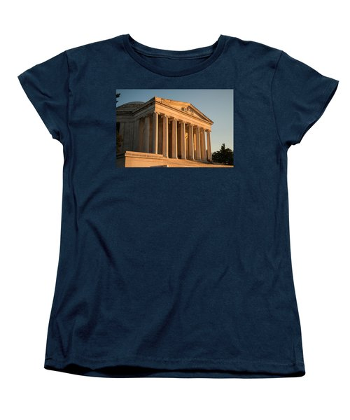 Jefferson Memorial Sunset Women's T-Shirt (Standard Cut) by Steve Gadomski