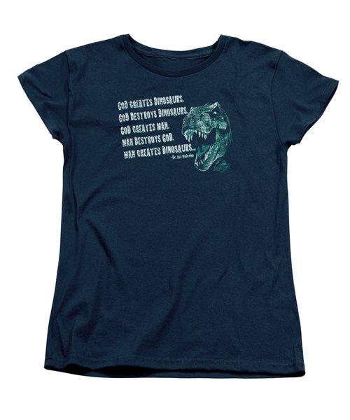 Jurassic Park - God Creates Dinosaurs Women's T-Shirt (Standard Cut) by Brand A