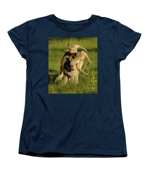 Kangaroos Taking A Bow Women's T-Shirt (Standard Cut) by Bob Christopher