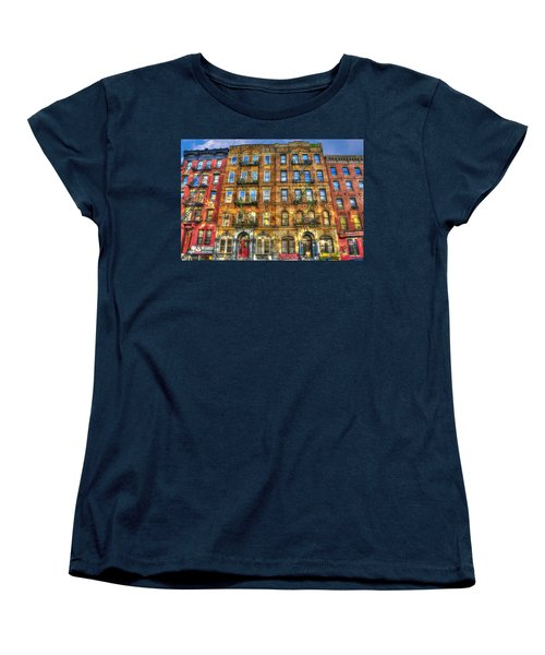 Led Zeppelin Physical Graffiti Building In Color Women's T-Shirt (Standard Cut) by Randy Aveille