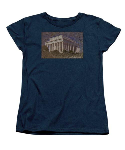 Lincoln Memorial Women's T-Shirt (Standard Cut) by Skip Willits