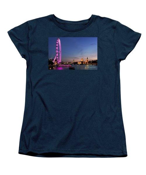 London Eye Women's T-Shirt (Standard Cut) by Rod McLean