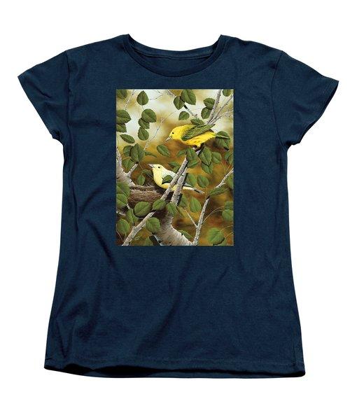 Love Nest Women's T-Shirt (Standard Cut) by Rick Bainbridge