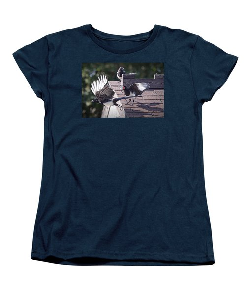 Magpie Dispute Women's T-Shirt (Standard Cut) by Randall Nyhof