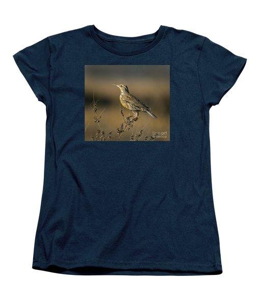 Meadowlark On Weed Women's T-Shirt (Standard Cut) by Robert Frederick