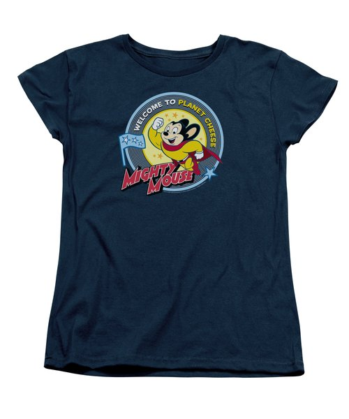 Mighty Mouse - Planet Cheese Women's T-Shirt (Standard Cut) by Brand A