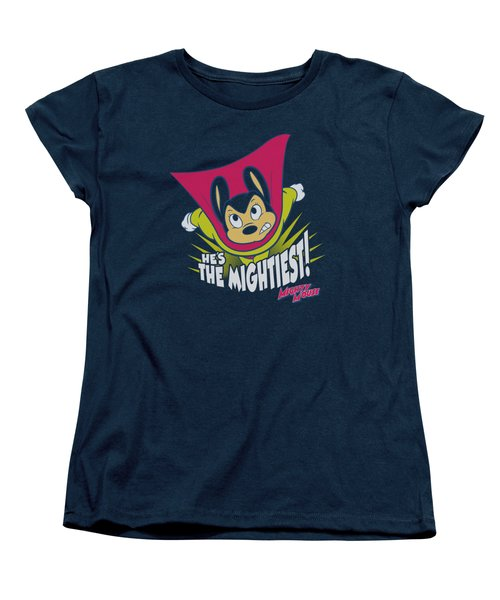 Mighty Mouse - The Mightiest Women's T-Shirt (Standard Cut) by Brand A