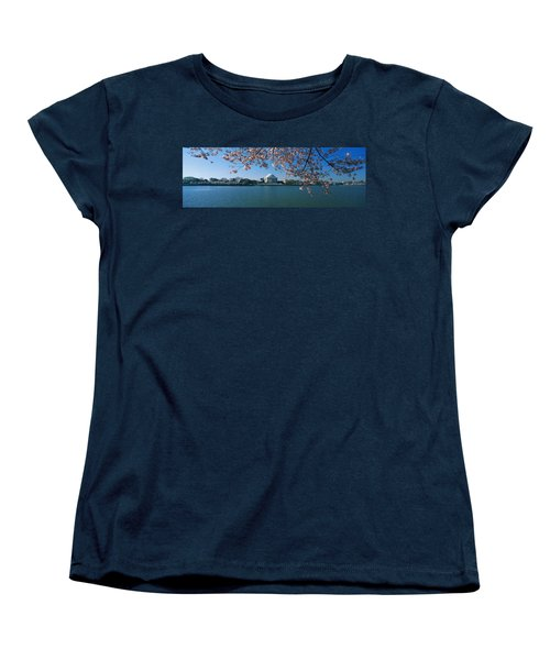Monument At The Waterfront, Jefferson Women's T-Shirt (Standard Cut) by Panoramic Images