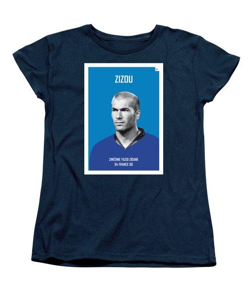 My Zidane Soccer Legend Poster Women's T-Shirt (Standard Cut) by Chungkong Art