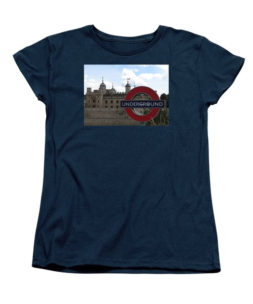 Next Stop Tower Of London Women's T-Shirt (Standard Cut) by Jenny Armitage