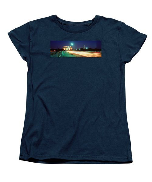 Night, Lincoln Memorial, District Of Women's T-Shirt (Standard Cut) by Panoramic Images