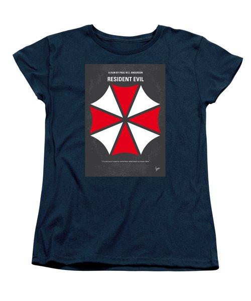 No119 My Resident Evil Minimal Movie Poster Women's T-Shirt (Standard Cut) by Chungkong Art