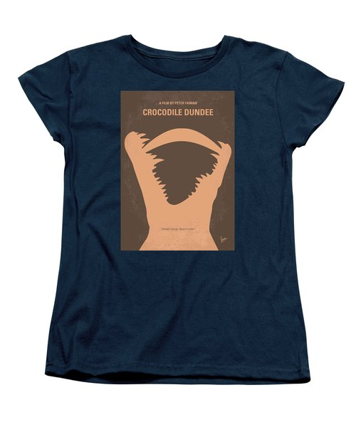 No210 My Crocodile Dundee Minimal Movie Poster Women's T-Shirt (Standard Cut) by Chungkong Art