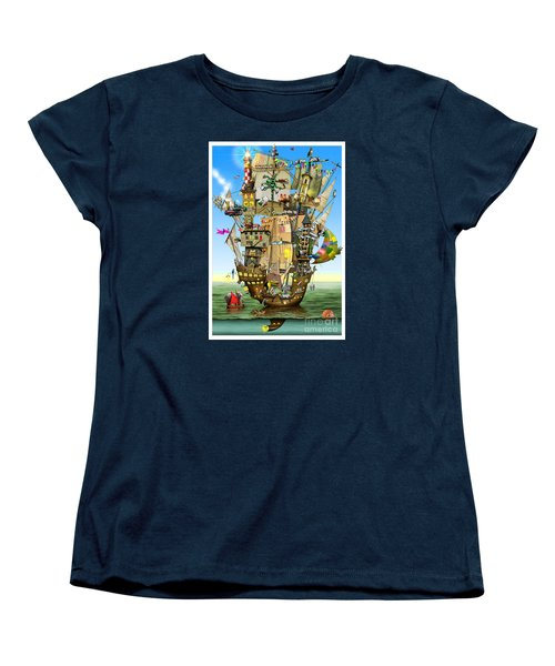 Norah's Ark Women's T-Shirt (Standard Cut) by Colin Thompson