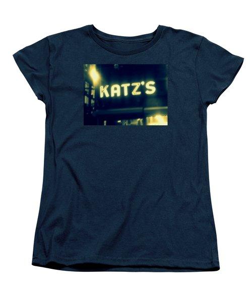 Nyc's Famous Katz's Deli Women's T-Shirt (Standard Cut) by Paulo Guimaraes
