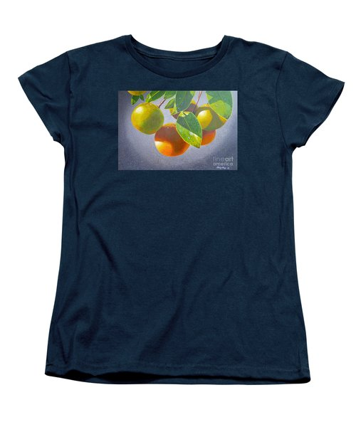 Oranges Women's T-Shirt (Standard Cut) by Carey Chen