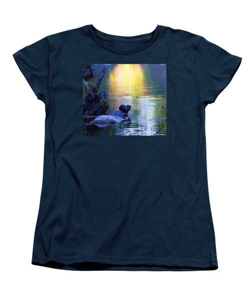 Otter Family Women's T-Shirt (Standard Cut) by Dan Sproul