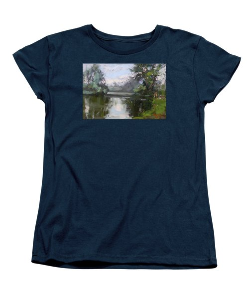 Outdoors At Hyde Park Women's T-Shirt (Standard Cut) by Ylli Haruni