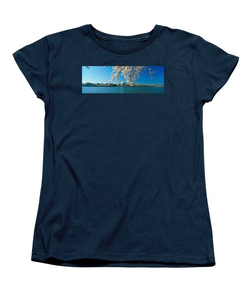 Panoramic View Of Jefferson Memorial Women's T-Shirt (Standard Cut) by Panoramic Images