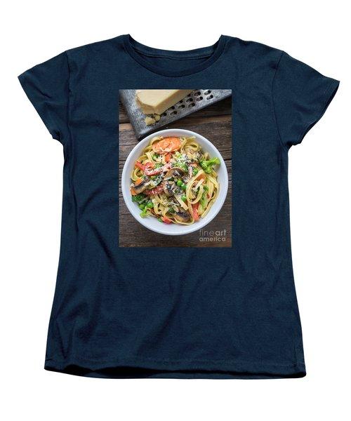Pasta Primavera Dish Women's T-Shirt (Standard Cut) by Edward Fielding